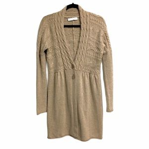 FTC CASHMERE Long Cardigan Sweater Brown L